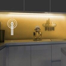 Инфракрасный PIR датчик движения светодиодный светильник для кухни 5 в постоянного тока, ленточная лампа для шкафа, настенное украшение под кровать, светильник 1 м 2 м 3 м