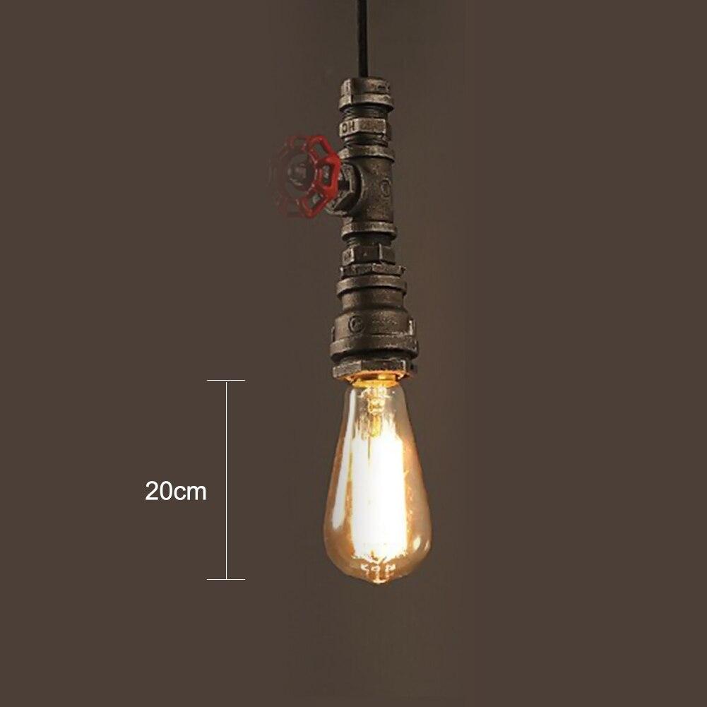 Pipe Lamp Industrial Lamp Urban Pipe Lamp By: Water Pipe Hanging Light Rustic Industrial Vintage Pendant