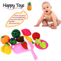 13PC Cutting Fruit Vegetable Pretend Play Children Kid Educational Toy cocina juguete miniature food Vee_Mall