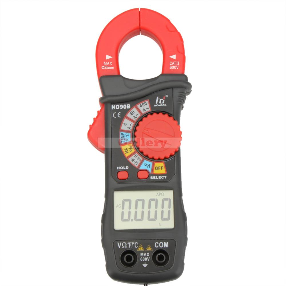 Hd Hd90b Auto Range Digital Clamp Meter Multimeter Amp Volt Ohmmeter W Frequency Capacitance & Temperature Test Tester ms8226 handheld rs232 auto range lcd digital multimeter dmm capacitance frequency temperature tester meters
