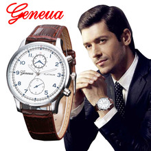 Gofuly 2017 Brand Fashion Mens Watch Quartz-Watch Male Clock Hours Watches Sport Military Watches Men Leather Relogio Masculino