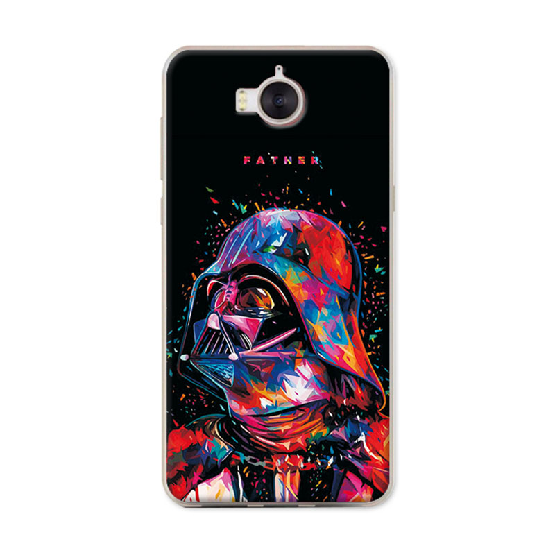 For Huawei Y6 2017 Phone Case Cover For Huawei Y5 2017 Cute Novelty Painted Covers Cases On For Huawei Y 5 6 2017 Fundas Capa 5 Fitted Cases