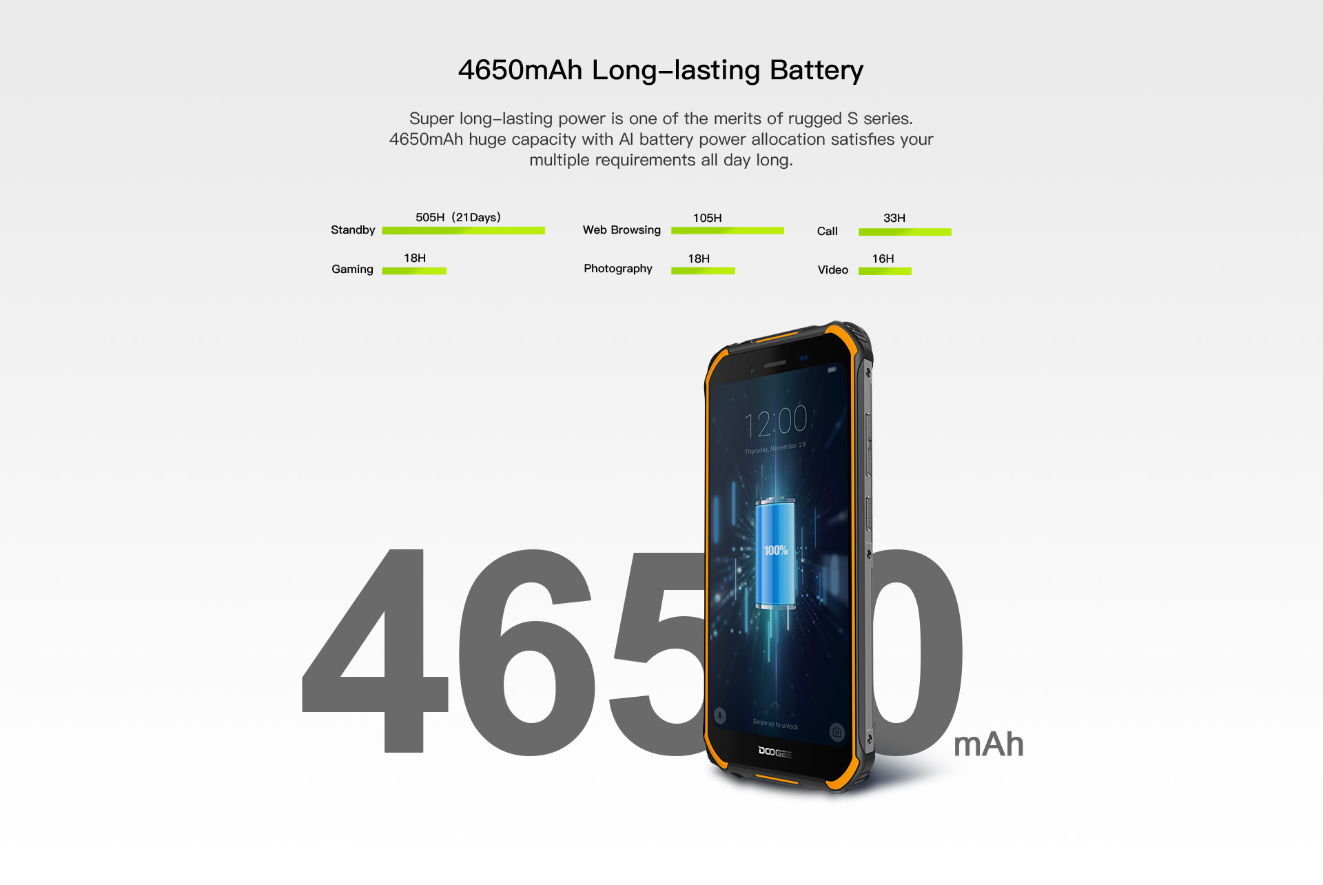 "Upgrade 3GB+32GB DOOGEE S40 5.5""HD 4G network  Mobile Phone IP68 Waterproof 4650mAh 8MP MT6739 Android 9.0 Pie Smartphone"
