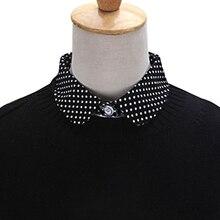 Stylish Matchable Collar Women Pure Color Wave Point Pattern Lapel Choker Necklace Shirt Fake False Collar New