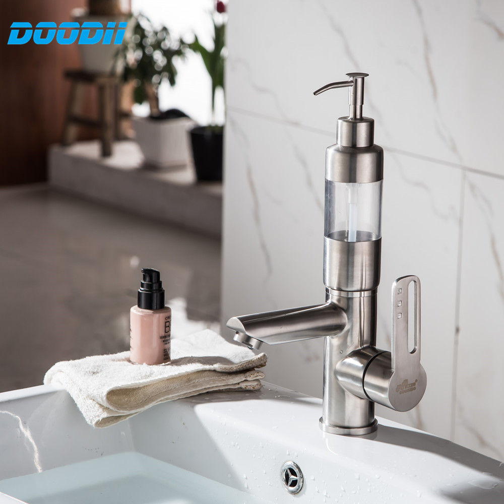 Basin Mixer Stainless Steel Hot And Cold Water Mixer Wash Basin - Bathroom detergent