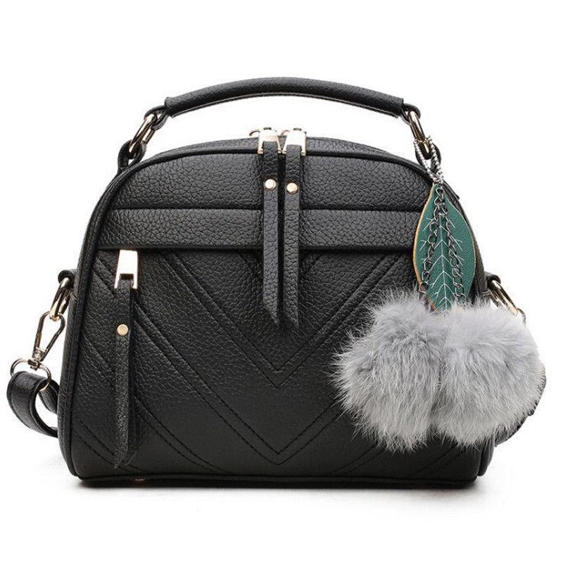 New fashion women's shoulder bag PU leather solid color messenger bag casual handbag
