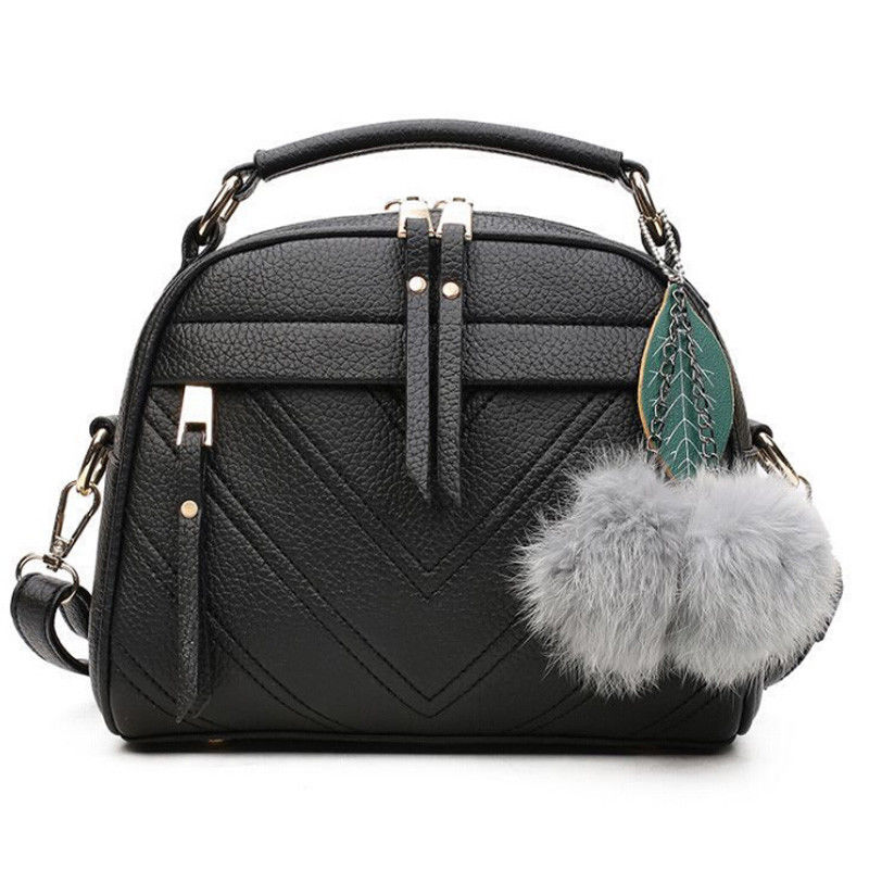 New Fashion Women's Shoulder Bag PU Leather Solid Color Messenger Bag Casual Handbag