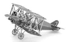 Miniature Fokker D Vll 3D Metal Model Puzzle 3D Model Building Kits Puzzle 3D Solid Jigsaw
