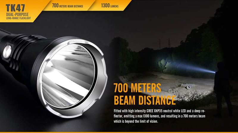 Fenix TK47 700 Meters Beam Distance Long Range Flashlight (11)