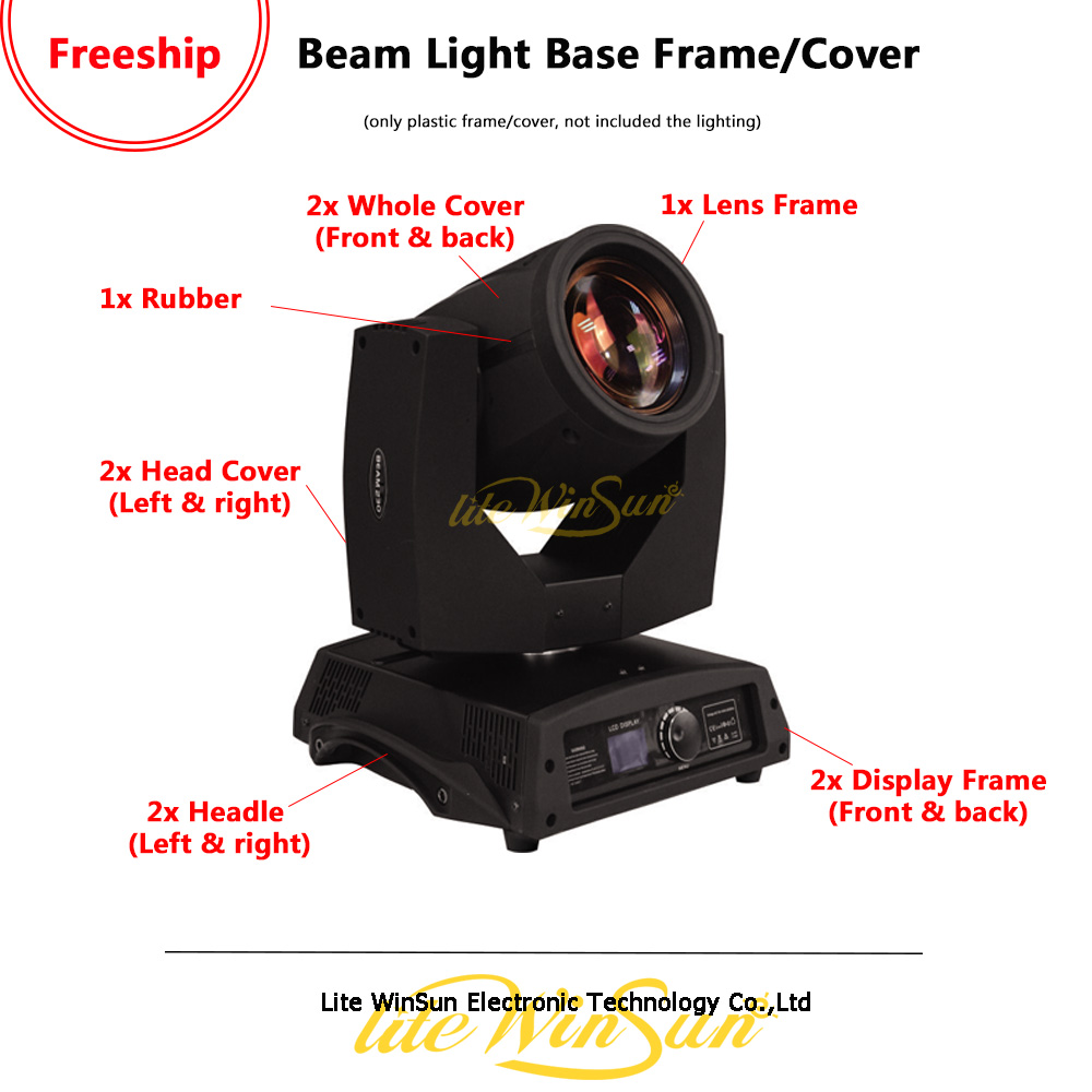 Litewinsune Freeship Head Cover Display Frame Handle For Beam 5R Beam R7 Sharp Moving Head Light