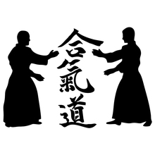 CS-972#15*22cm Aikido funny car sticker vinyl decal silver/black for auto stickers styling decoration