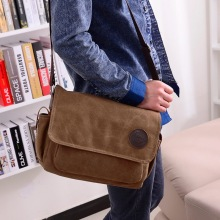2014 new simple canvas bag bag Korean tide men's business shoulder factory direct