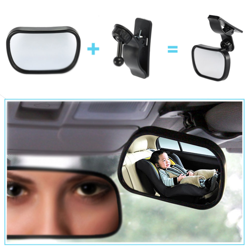 mini car back seat safety view mirror 2 in 1 baby rear. Black Bedroom Furniture Sets. Home Design Ideas