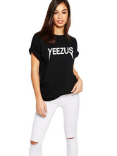 YEEZUS 2016 Summer New Brand Print Women t shirt Casual Cotton Black Harajuku Funny Short Sleeve cheap T Shirt Tops Plus Size