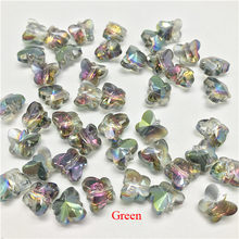 100 Pcs/lot Small Colorful Crystal Butterfly Beads Glass for Jewelry Making Charms Pendants Diy