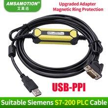 цена на Promotion!!! USB-PPI Suitable Siemens S7-200 PLC programming Cable USB PPI Communication Cable 6ES7 901-3DB30-0XA0 Download Line