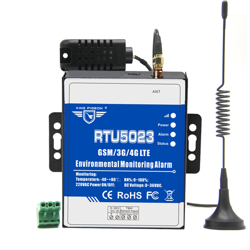 GSM 3G 4G RTU Temperatur Feuchtigkeit Alarm AC/DC Power Verloren Alarm Remote Monitor Unterstützung Timer Bericht APP Control RTU5023