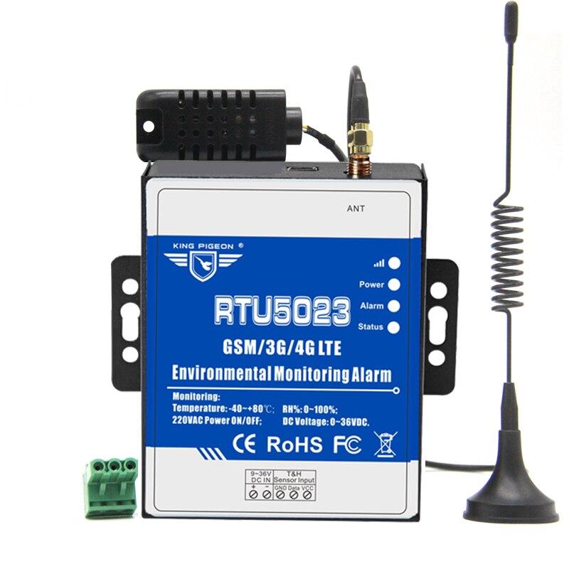 Gsm monitor de umidade temperatura ac/dc energia perdido alarme remoto monitor apoio temporizador relatório controle app rtu5023