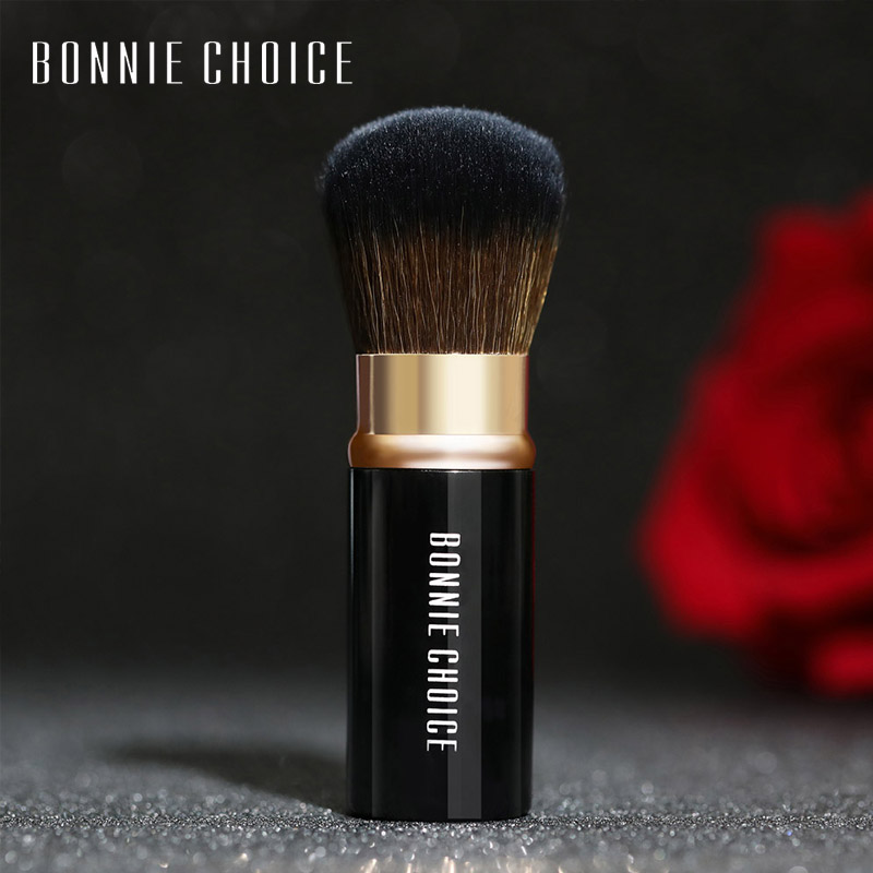 BONNIE CHOICE Makeup Brush Professional Cosmetic Foundation Blusher Face Blush Loose Powder Brushes Portable Retractable 1pc