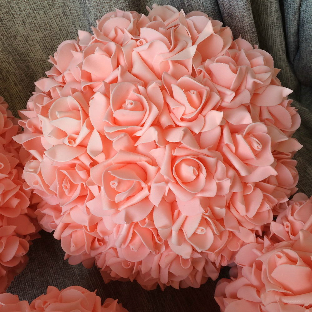 8pcslot 11 Peach Kissing Ball Pomander Foam Rose Flower Balls For