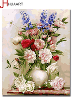 Wall Home Decoration Beautiful Flower Coloring By Numbers Picture Wall Painting On TheDiy Digital Painting