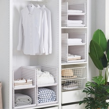 Durable Foldable Wardrobe Cloth Storage Box Closet Shelf Divider Storage Holders Racks For Home Bedroom Closet Organization