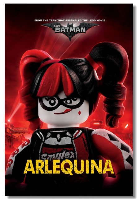 Custom Canvas Wall Paintings Lego Batman Movie Poster Harley Quinn