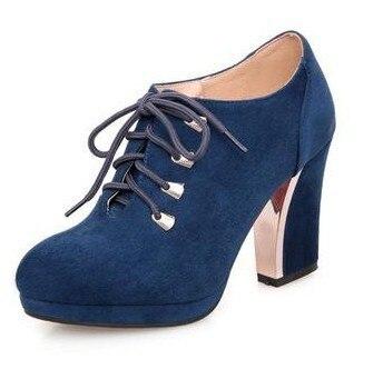 Thick Heel font b Women b font Pumps High Heel Shoes Free Shipping 2014 font b