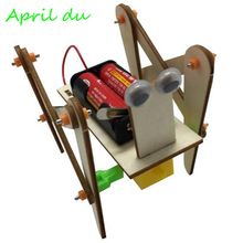 Primary school science and technology small production assembling robot science experiment invention electric four-legged crawli gianfranco pacchioni oxide ultrathin films science and technology