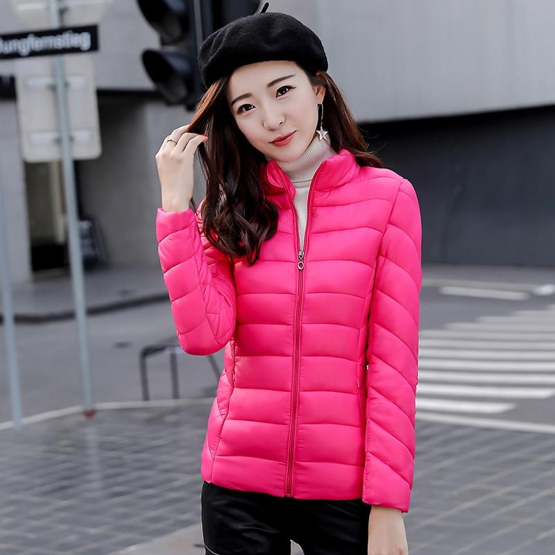 2017New women winter jacket slim plus size cotton padded coat female outerwear short Thin Light  soft  Fashion Autumnclothing