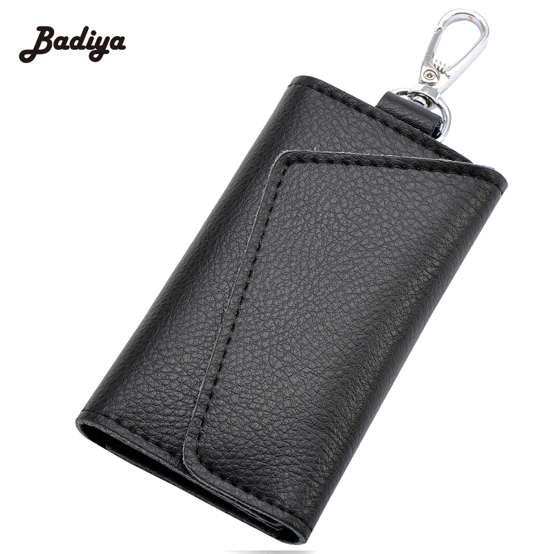New Design Brand Famous Key Chain Holder Litchi Pattern Card Holders Purse 6 Ring Business Card Bags For Ladies And Men famous brand new passport card holder