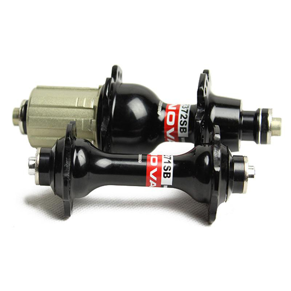Novateec A271SB/F372SB bicycle hub,front 20 holes rear 24 holes road hubs black and white with free quick release taiwan brands chosen bicycle hub asp1586b asp7187bo road bike hub black or red front rear qr 20 24 holes cycling hubs free shipping