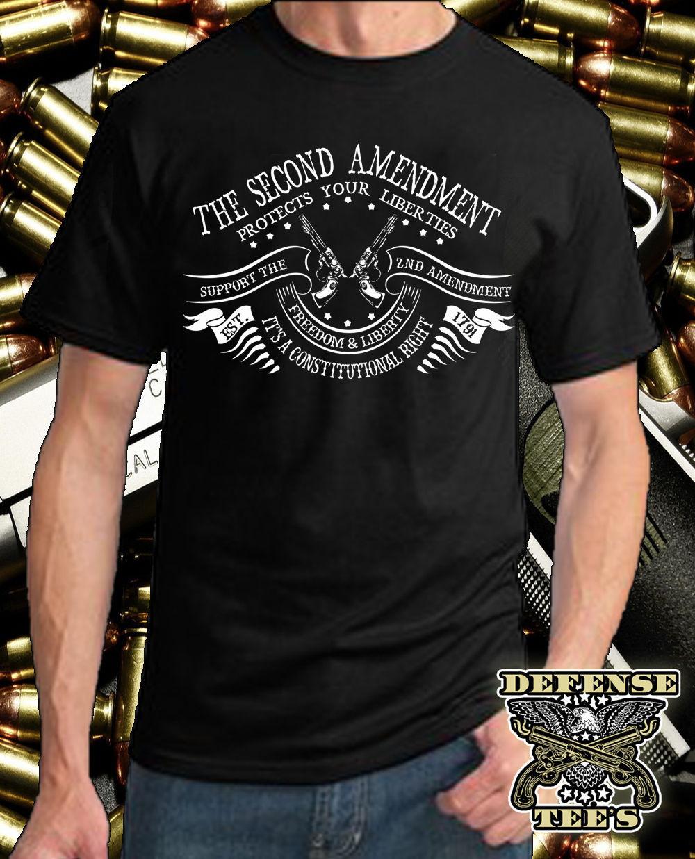 Donald Trump 2020 tshirt America Flag 2nd Amendment Gun Rights Men T-Shirt S-3XL