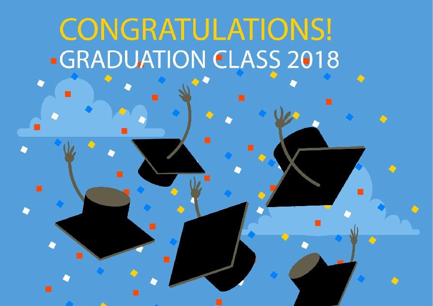 7x5FT Congratulations Graduation Class 2018 Stars Hat Custom Photo
