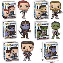 FUNKO POP New Arrival Marvel Avengers TONY STARK Endgame THANOS HULK THOR BLACK WIDOW Action Figure Toy Modelo Para Crianças presente(China)
