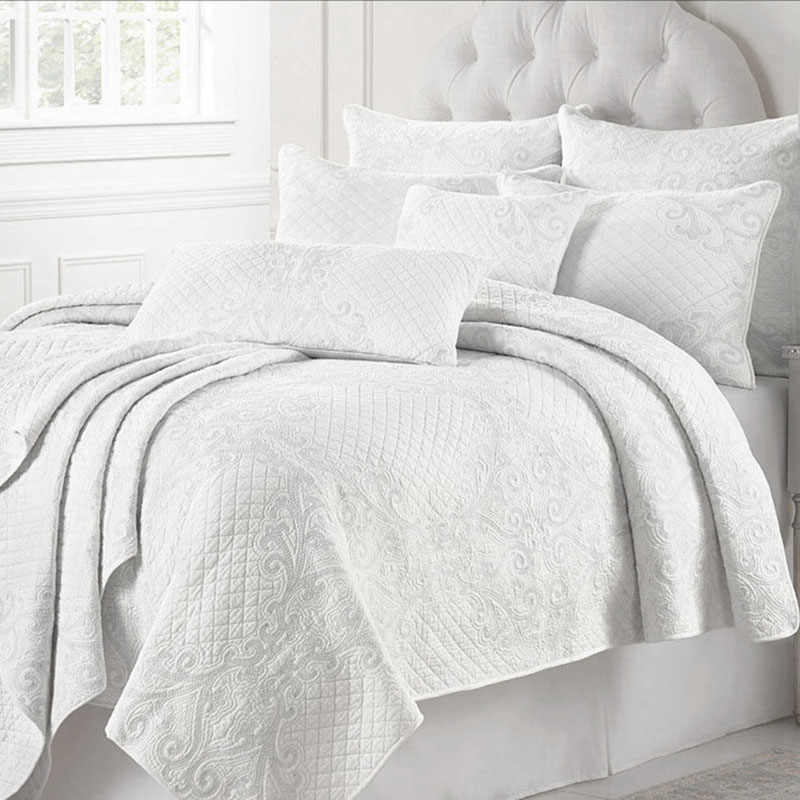 Detail Feedback Questions About Chausub France White Quilt Set 3pcs