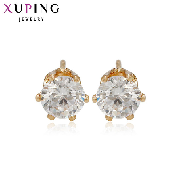 7cd1c9978 Xuping Elegant Earring New Design Gold Color Plated Fashion Jewelry Wedding Stud  Earrings for Women 21221