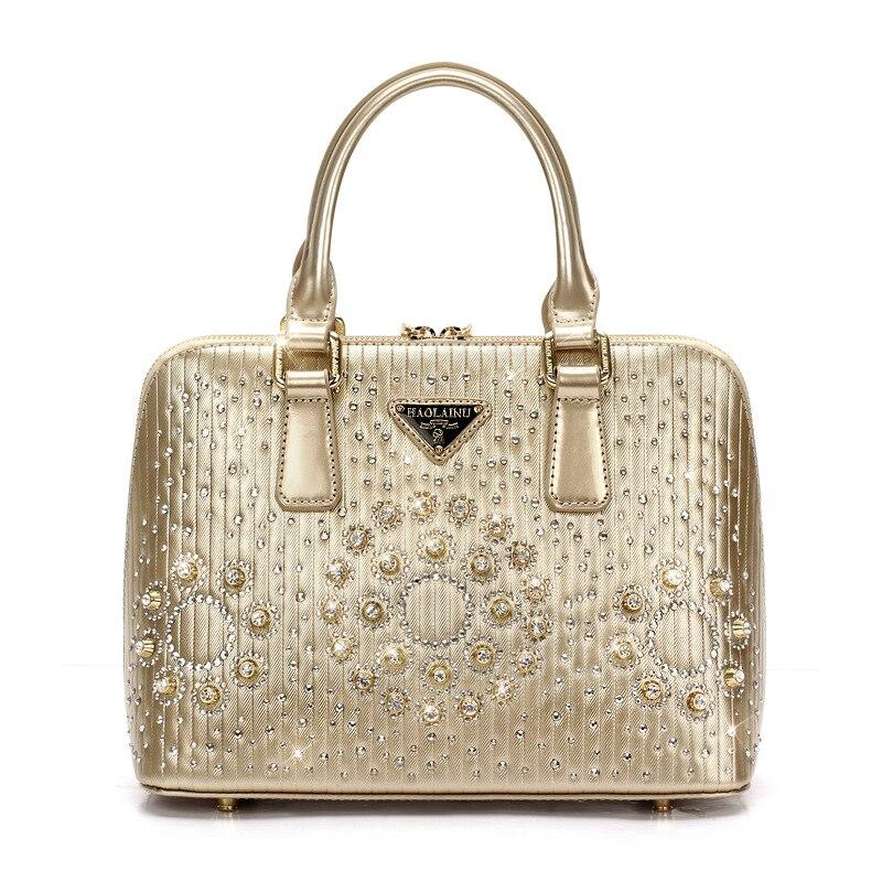 ФОТО 2017 women bag women messenger bags Big diamond evening bag shell bag handbag PU Free shipping