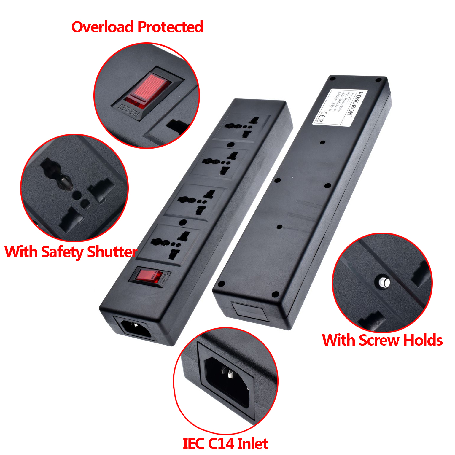 Black 250V 10A 4 jack Multifunction Universal power adaptor outlet PDU strip wiring board extension socket power cord converterBlack 250V 10A 4 jack Multifunction Universal power adaptor outlet PDU strip wiring board extension socket power cord converter