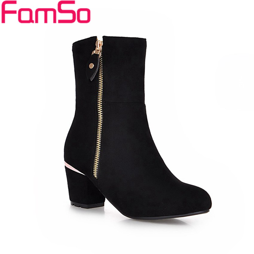 Plus Size34 45 2016 new Sexy font b Women b font Boots black High Heels Shoes