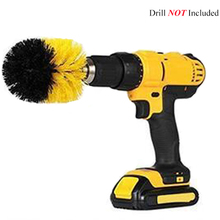 цена на 3.5inch Drill Power Scrub Clean Brush For Leather Plastic Wooden Furniture Car Interiors Cleaning Power Scrub, Yellow