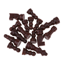 16Pcs 3 in 1 International Chess Game Backgammon Draughts Props Chessman 51mm King for Party Toys