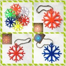 Новые снежинки светоотражающие Аксессуары для ключей, школьные сумки, сумки. Можно использовать в качестве подарка,. Улучшает ночную видимость