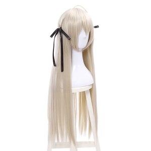 Image 3 - L email perruque pour Cosplay synthétique lisse, longue de 80cm, nouvelle perruque pour Cosplay Yosuga no Sora In solitude