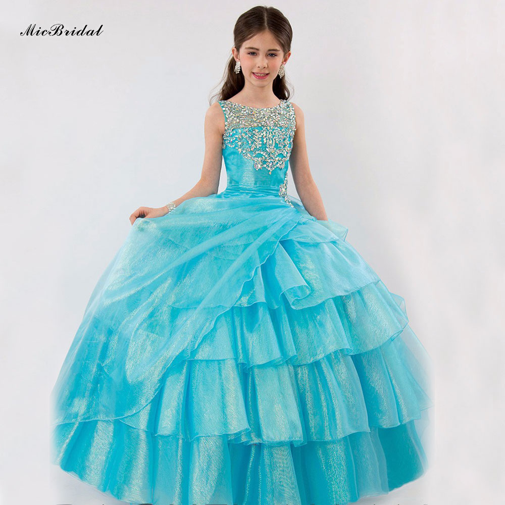 Plus Size Latest Beauty Junior Pageant Dresses For Little Girls Prom ...