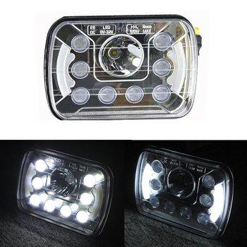 Promotion ! 1pair 55W 7x6 7x5 5x7 6x7 led Hi/Lo beam CLEAR SEALED BEAM 7inch truck led HEADLIGHT external headlight