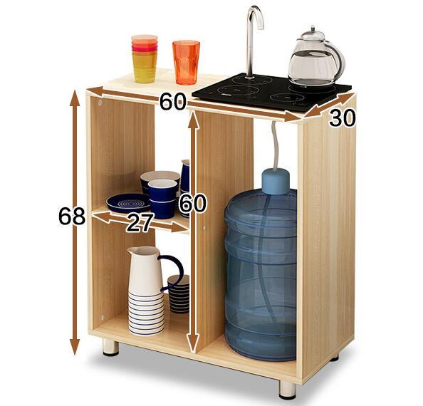купить 60*30*68CM Living Room Coffee Table Sofa Side Tea Table Bedside Storage Corner Table Kitchen Side Cabinet недорого