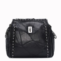 Hip Hop Fashion Sheepskin Women Genuine Leather Handbags Women S Bag Shoulder Bags Ladies Messenger Bags