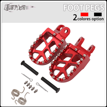 Motorbike CNC Aluminum Red Foot Pegs Footpegs Pedals Rests For HONDA CRF1000L CRF 1000 L 2016 2017 Dirt Bike