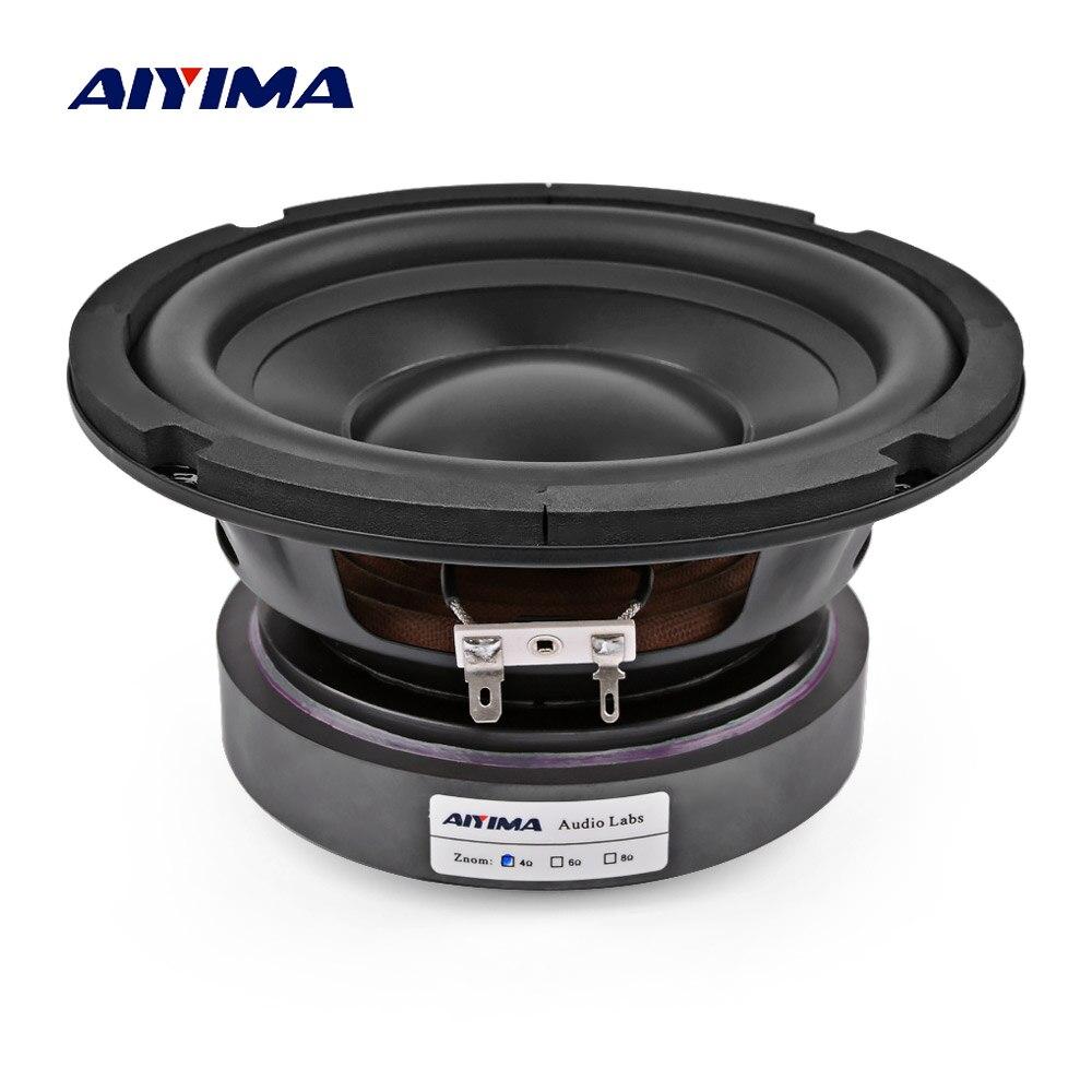 AIYIMA 6.5 pouces Subwoofer haut-parleurs Home cinéma voiture Audio haute puissance 4 8 ohms 100 W Hifi fièvre Woofer haut-parleur pour système de son